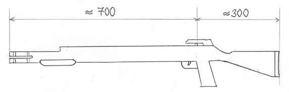 Как сделать дробовик из дерева своими руками чертежи 46